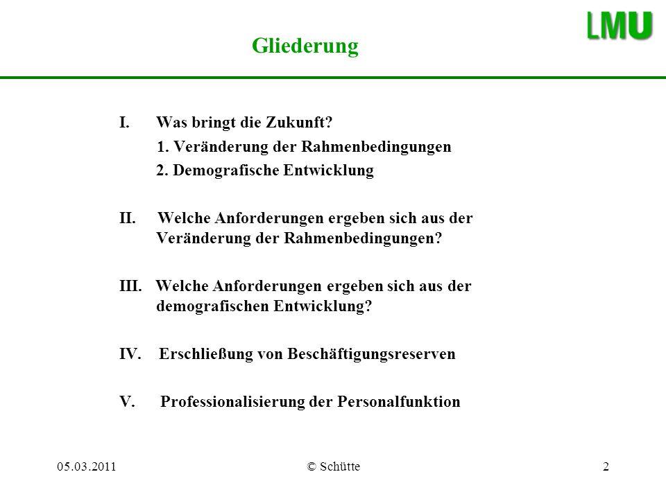 05.03.2011© Schütte3 I.Was bringt die Zukunft.