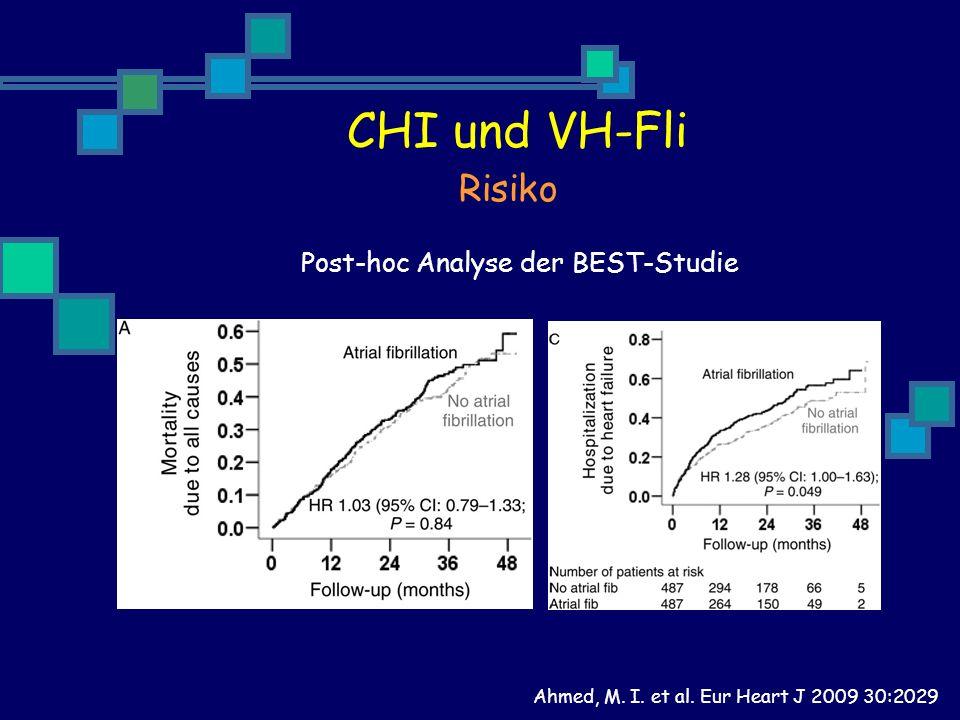 Ahmed, M. I. et al. Eur Heart J 2009 30:2029 CHI und VH-Fli Risiko Post-hoc Analyse der BEST-Studie