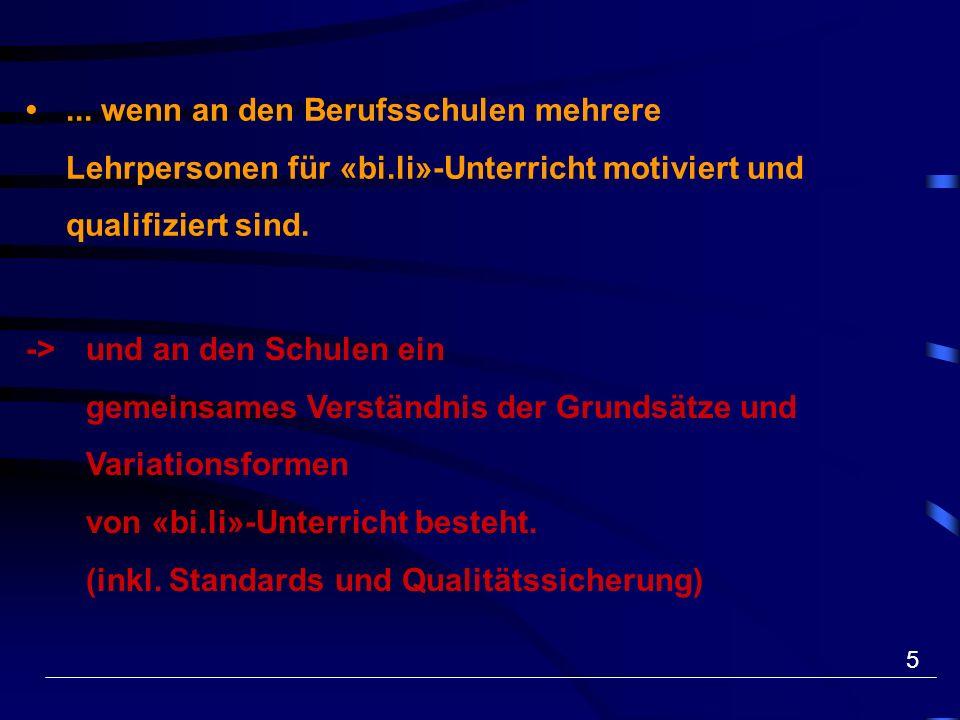 6... wenn Mehrsprachigkeit zu einem Aspekt der Schulkultur an Berufsschulen wird. (QE, UE)
