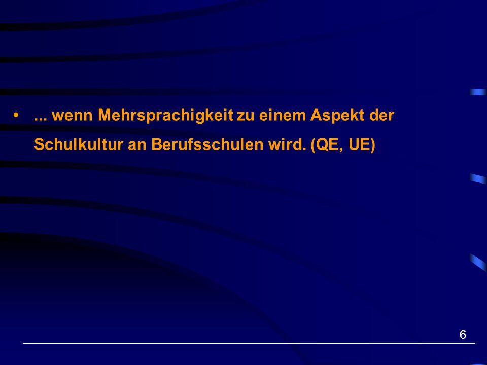 17 «Plattform zweite Sprache» www.2sprachen.ch www.2langues.ch Berufsbildung noch immer weitgehend einsprachig.
