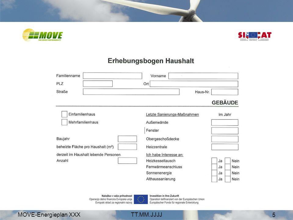 MOVE-Energieplan XXXTT.MM.JJJJ 6 Modul 1/ Ziel: Interesse und Status Wieviel Energie wird verbraucht.