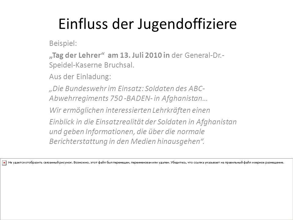 Beispiel: Tag der Lehrer am 13.Juli 2010 in der General-Dr.- Speidel-Kaserne Bruchsal.