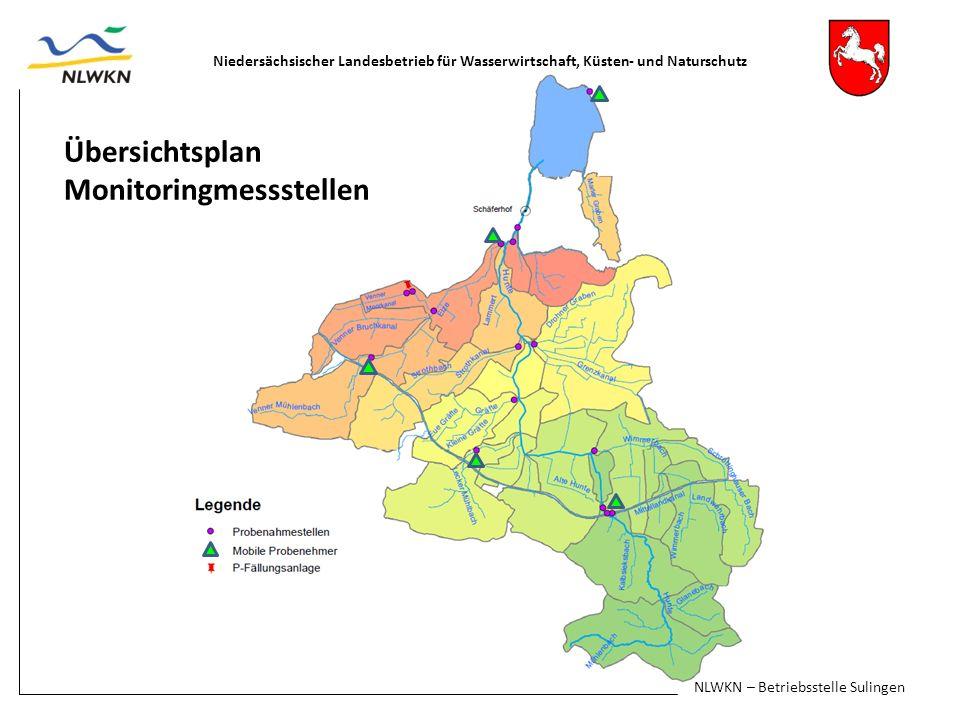 Niedersächsischer Landesbetrieb für Wasserwirtschaft, Küsten- und Naturschutz Übersichtsplan Monitoringmessstellen