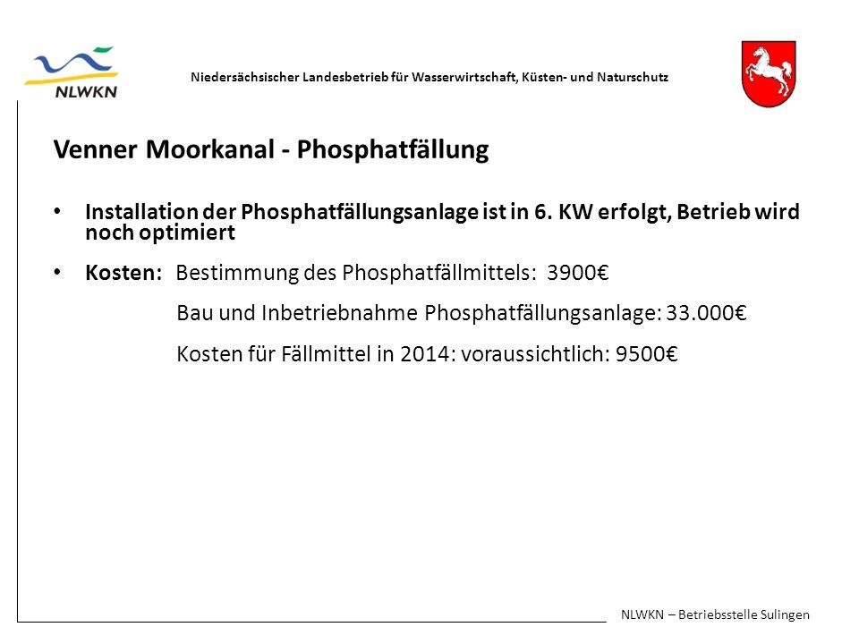 Umleitungen im Bereich Venner Moorkanal-Ost Umleitung Venner Moorkanal-Ost in den Schweger Moorkanal 1.
