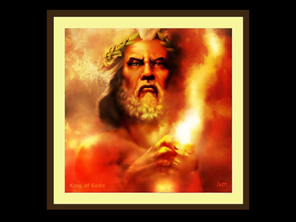 Zeus war der höchste griechische Gott, der indoeuropäische Himmelsgott, Vater der Götter und Menschen, Götterkönig nach dem Vorbild der menschlichen Gesellschaft, jüngster Sohn des Kronos und der Rhea, Bruder von Hera, Hades, Demeter, Poseidon und Hestia.