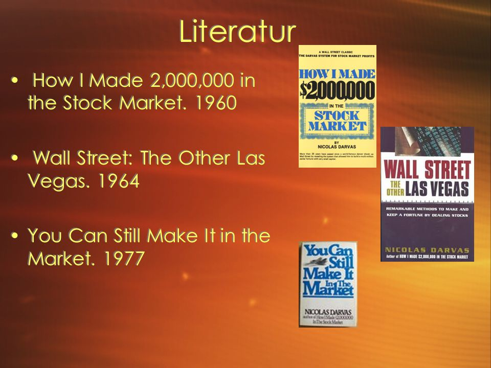 Literatur How I Made 2,000,000 in the Stock Market.