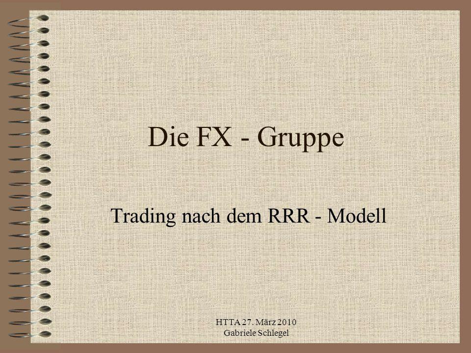 HTTA 27. März 2010 Gabriele Schlegel Die FX - Gruppe Trading nach dem RRR - Modell