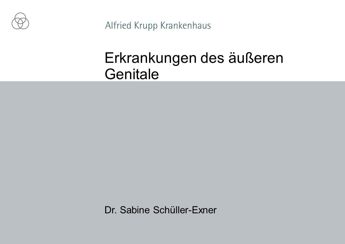 Dr. Sabine Schüller-Exner Erkrankungen des äußeren Genitale