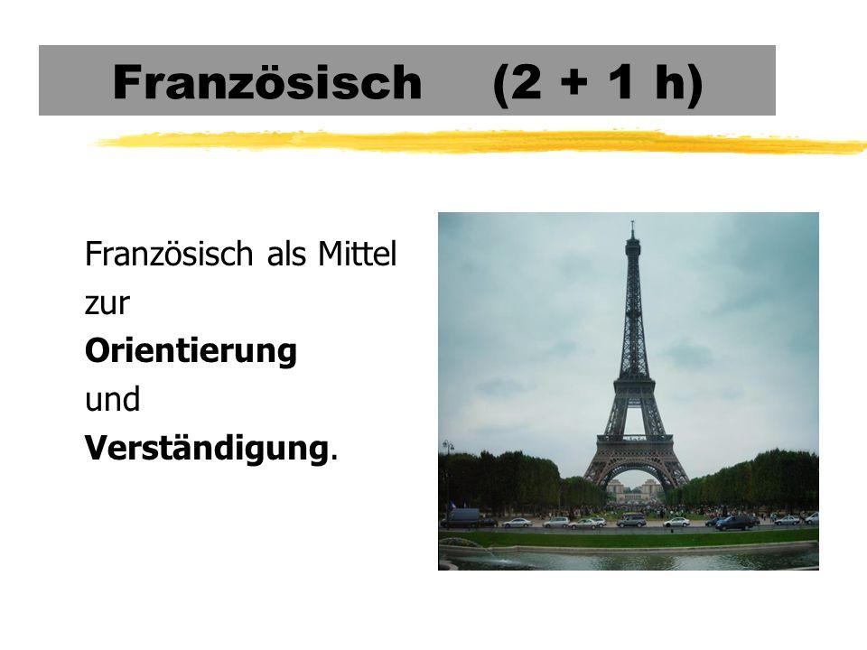 Französisch (2 + 1 h) Französisch als Mittel zur Orientierung und Verständigung.