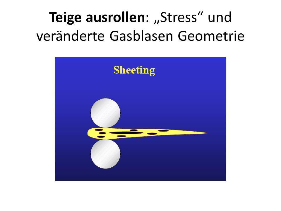 Teige ausrollen: Stress und veränderte Gasblasen Geometrie