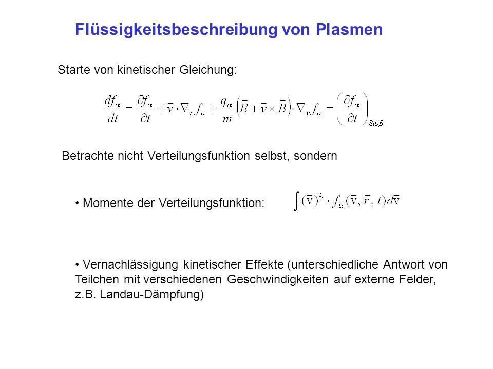 Momente der Verteilungsfunktion Dichte (k=0): Schwerpunktsgeschwindigkeit (k=1): Temperatur (k=2):