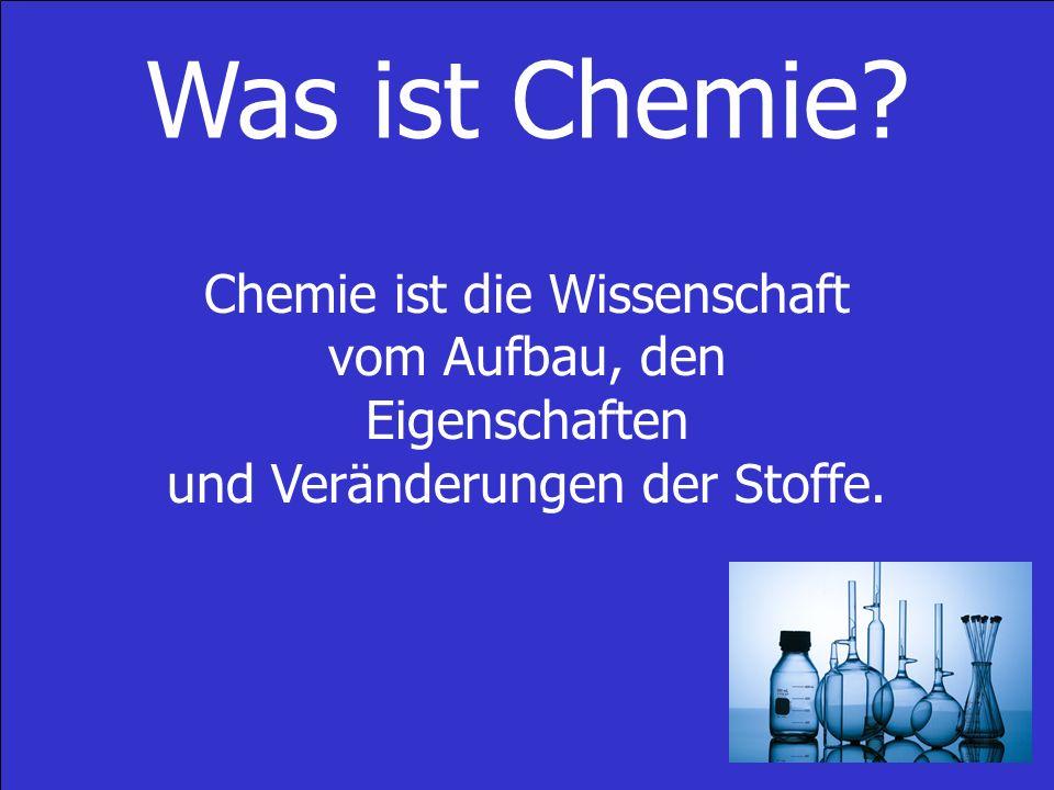 Was ist Chemie.