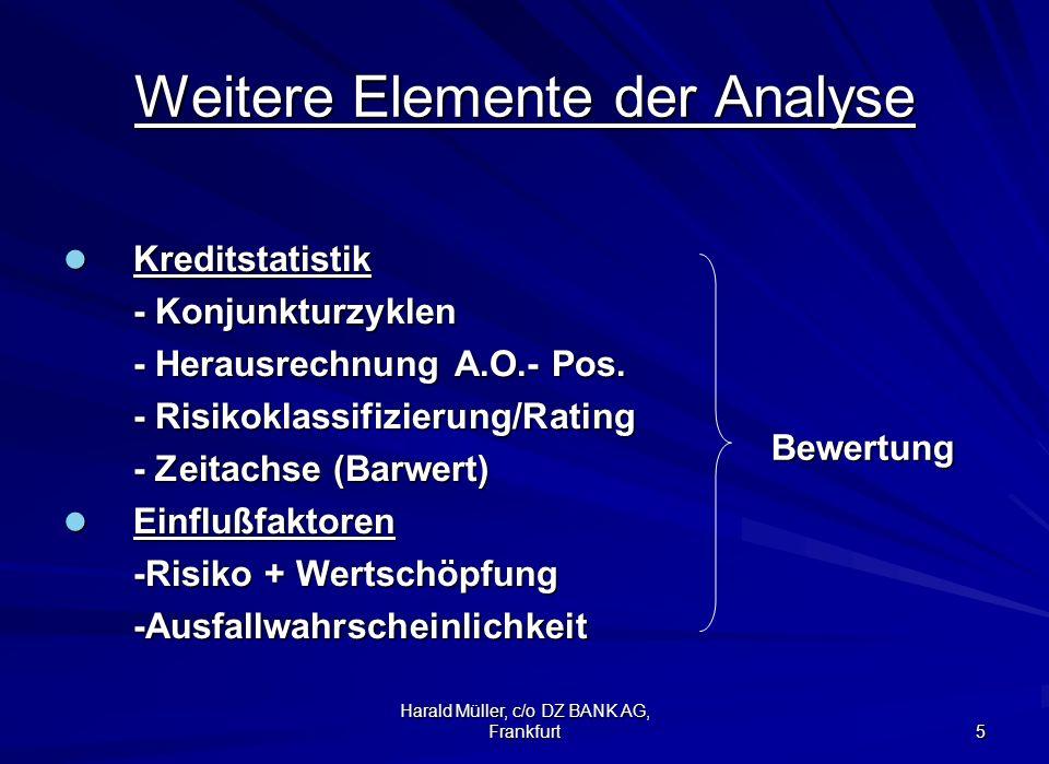 Harald Müller, c/o DZ BANK AG, Frankfurt 6 Engagement-Analyse - notwendige Details - 1.