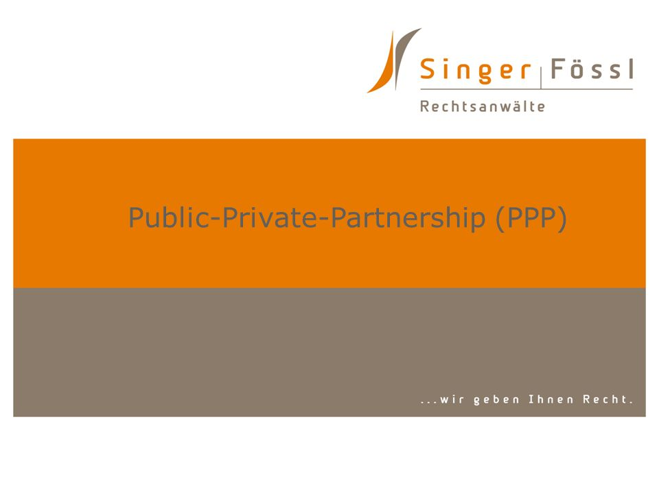 Public-Private-Partnership (PPP)