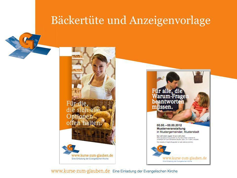Bäckertüte und Anzeigenvorlage