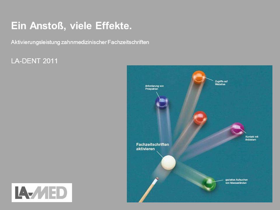 Aktivierungsleistung zahnmedizinischer Fachzeitschriften – LA-DENT 2011 Ein Anstoß, viele Effekte. Aktivierungsleistung zahnmedizinischer Fachzeitschr