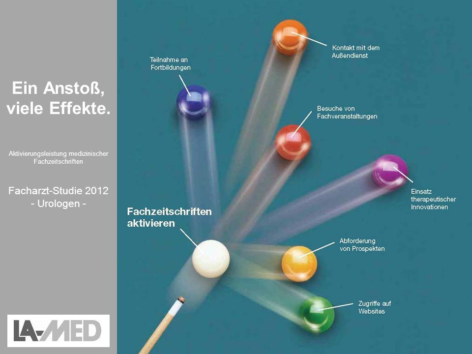 Aktivierungsleistung medizinischer Fachzeitschriften – LA-MED Facharzt-Studie 2012 Ein Anstoß, viele Effekte. Aktivierungsleistung medizinischer Fachz