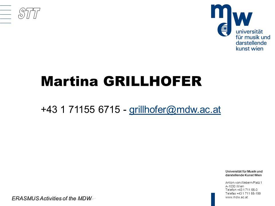 Universität für Musik und darstellende Kunst Wien Anton-von-Webern-Platz 1 A-1030 Wien Telefon +43 1 711 55-0 Telefax +43 1 711 55-199 www.mdw.ac.at M