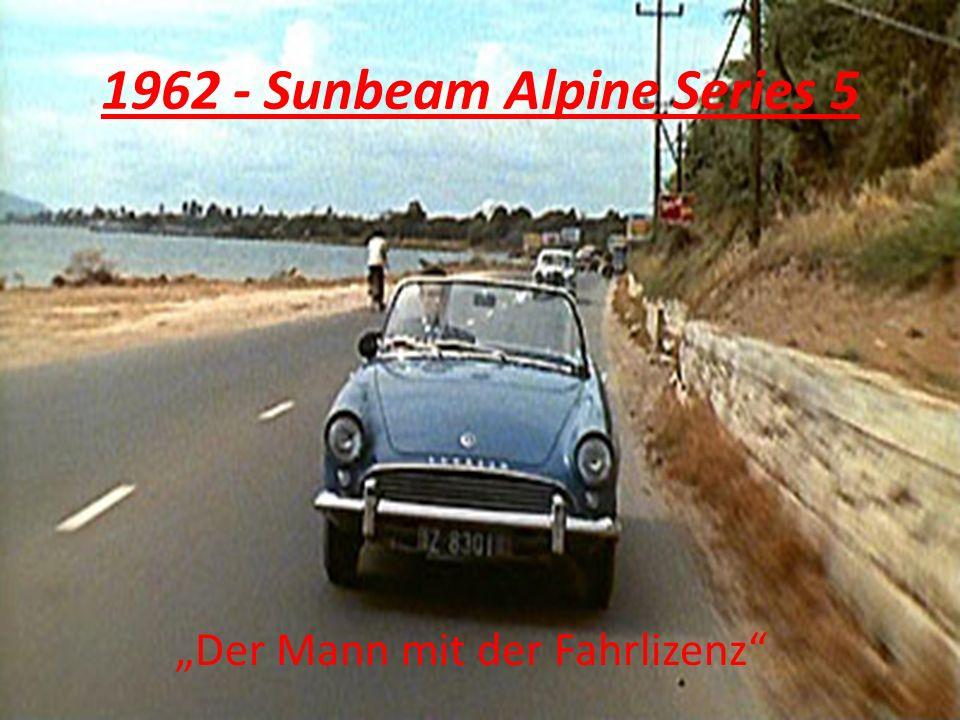 1962 - Sunbeam Alpine Series 5 Der Mann mit der Fahrlizenz