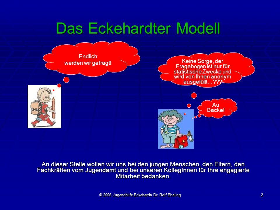 © 2006 Jugendhilfe Eckehardt/ Dr. Rolf Ebeling2 Das Eckehardter Modell An dieser Stelle wollen wir uns bei den jungen Menschen, den Eltern, den Fachkr