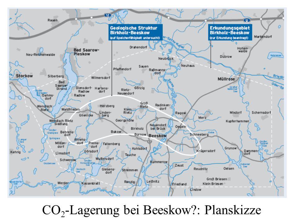 CO 2 -Lagerung bei Beeskow?: Planskizze