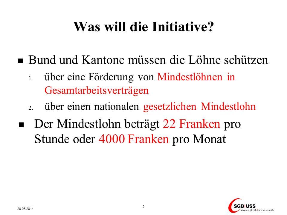Grosse Erfolge der bisherigen Mindestlohnkampagnen Deutlich mehr GAV-Unterstellte (in Millionen) 20.05.2014 3