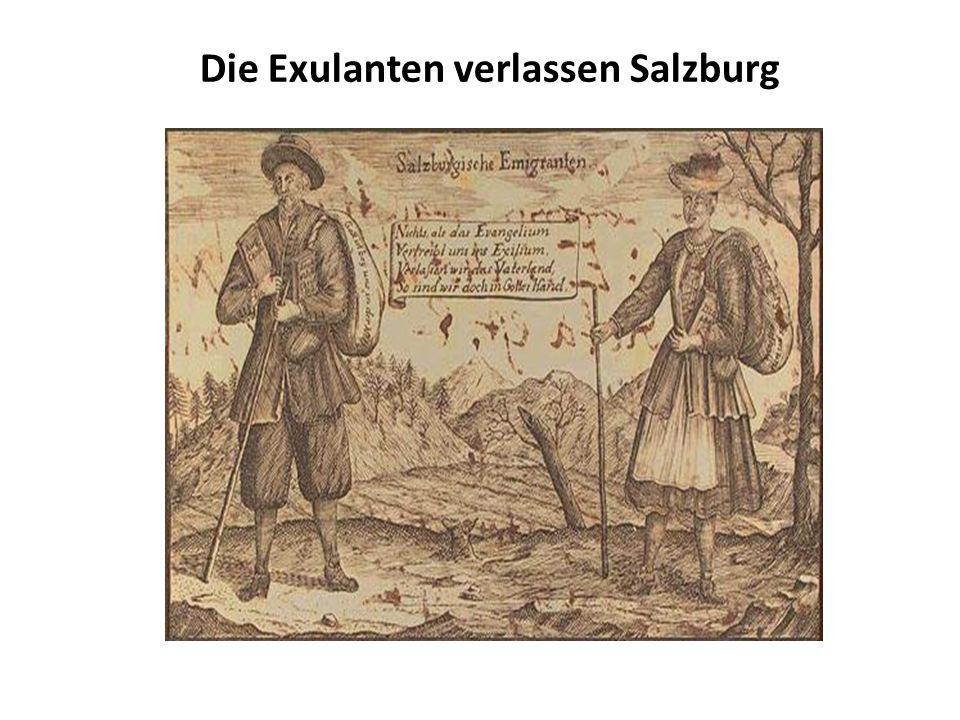 Die Exulanten verlassen Salzburg