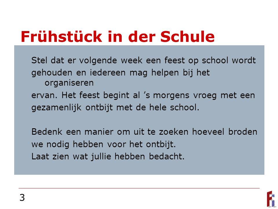 3 Frühstück in der Schule Stel dat er volgende week een feest op school wordt gehouden en iedereen mag helpen bij het organiseren ervan.