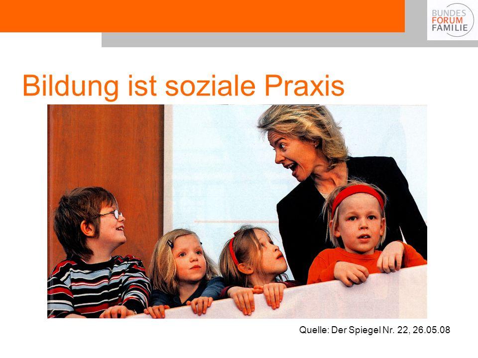 Bildung ist soziale Praxis Quelle: Der Spiegel Nr. 22, 26.05.08