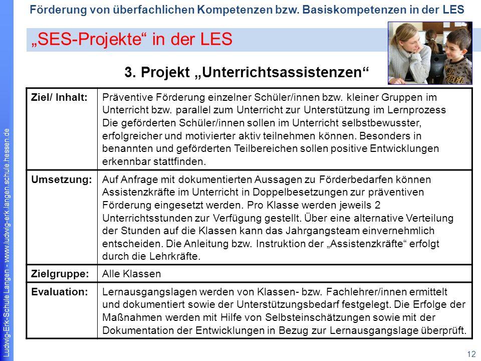 Ludwig-Erk-Schule Langen - www.ludwig-erk.langen.schule.hessen.de 12 Förderung von überfachlichen Kompetenzen bzw.