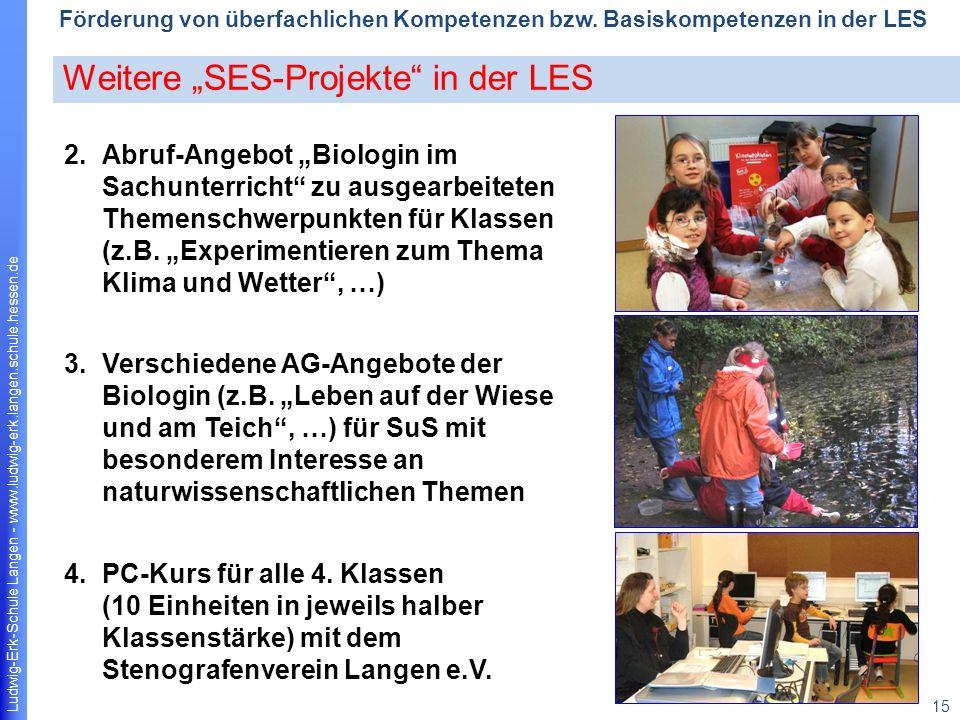 Ludwig-Erk-Schule Langen - www.ludwig-erk.langen.schule.hessen.de 15 Förderung von überfachlichen Kompetenzen bzw.