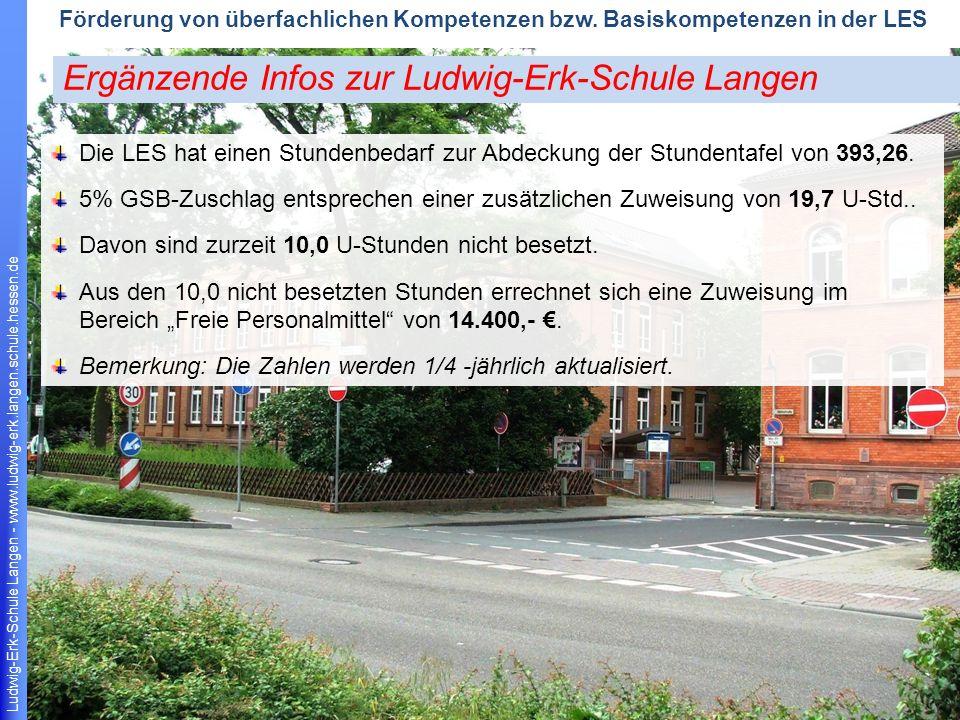Ludwig-Erk-Schule Langen - www.ludwig-erk.langen.schule.hessen.de 17 Förderung von überfachlichen Kompetenzen bzw.