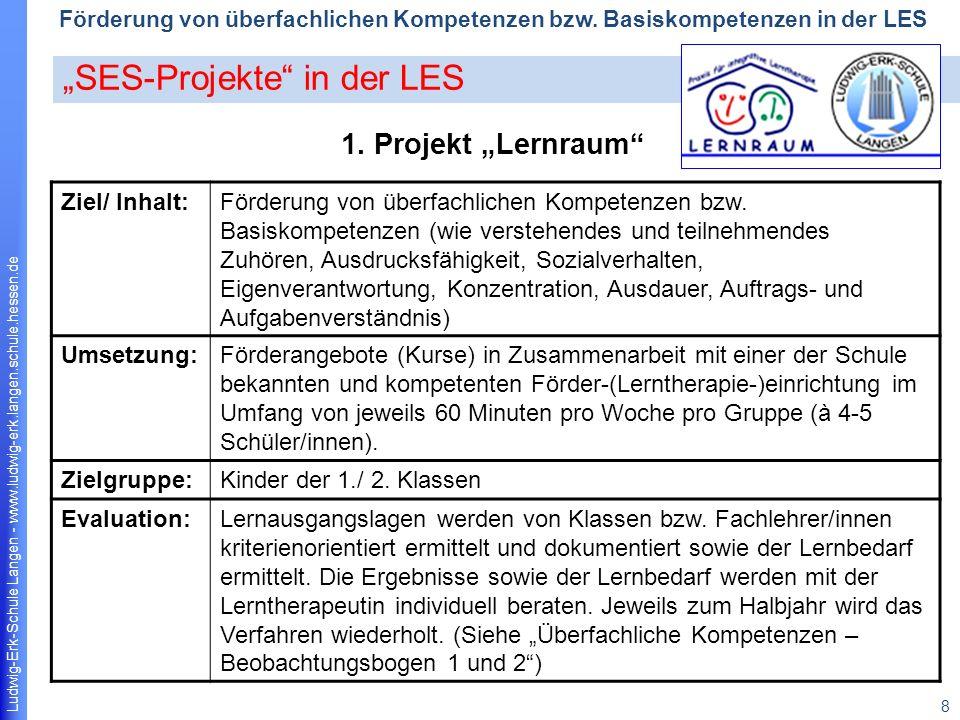 Ludwig-Erk-Schule Langen - www.ludwig-erk.langen.schule.hessen.de 9 Förderung von überfachlichen Kompetenzen bzw.