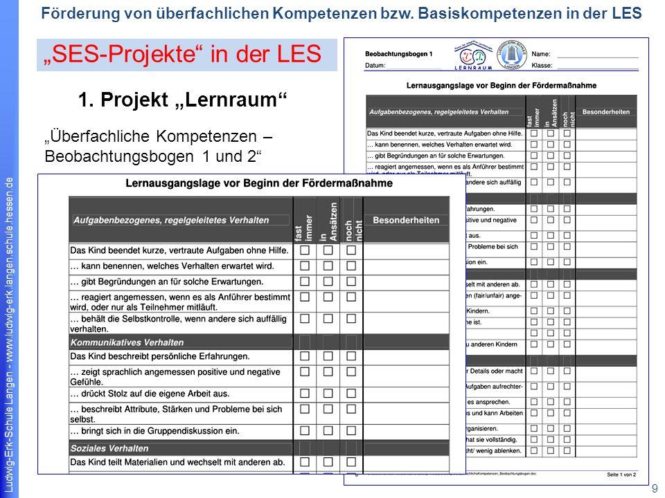 Ludwig-Erk-Schule Langen - www.ludwig-erk.langen.schule.hessen.de 10 Förderung von überfachlichen Kompetenzen bzw.
