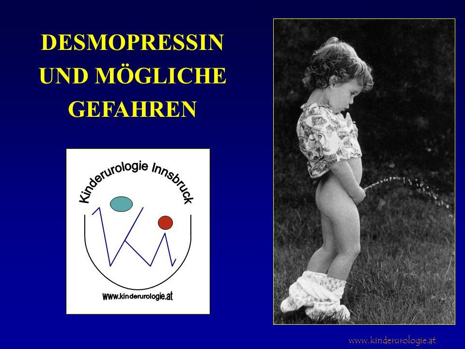 www.kinderurologie.at DESMOPRESSIN UND MÖGLICHE GEFAHREN