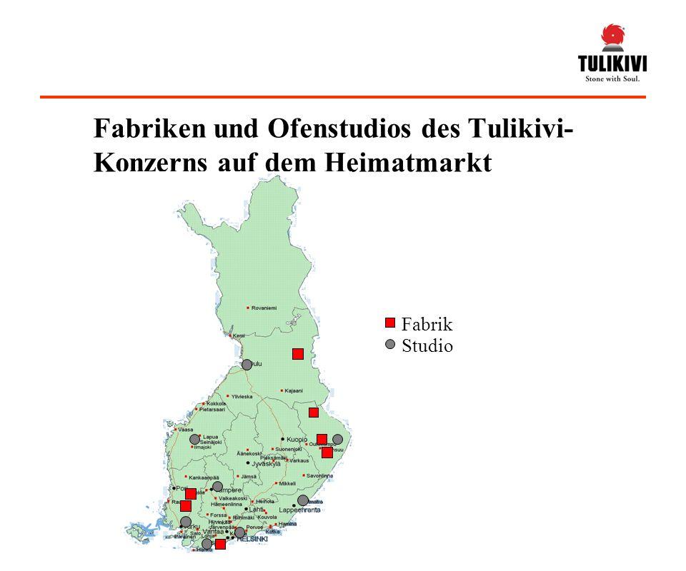 Fabrik Studio Fabriken und Ofenstudios des Tulikivi- Konzerns auf dem Heimatmarkt