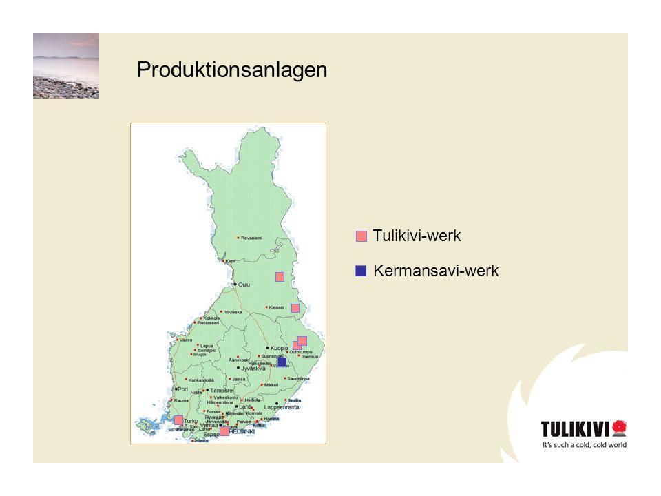 Produktionsanlagen Tulikivi-werk Kermansavi-werk