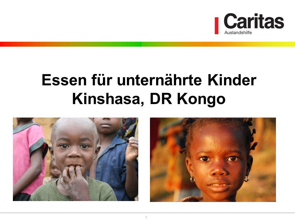 1 Essen für unternährte Kinder Kinshasa, DR Kongo