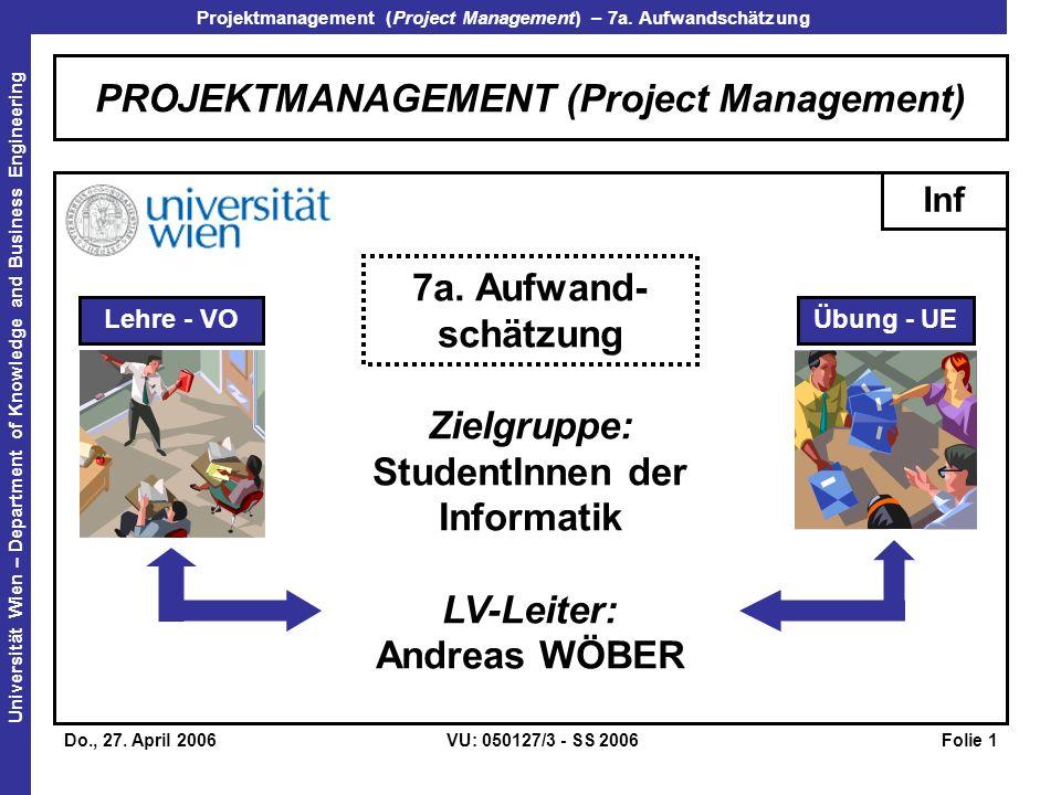 Projektmanagement (Project Management) – 7a.