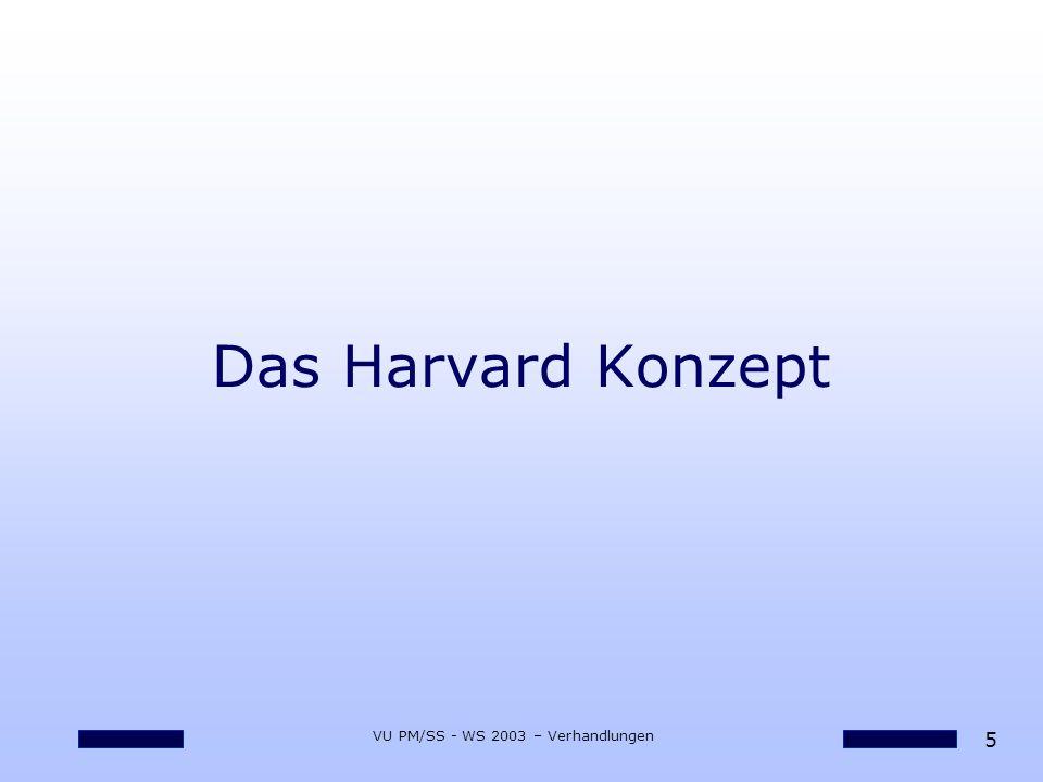 26 VU PM/SS - WS 2003 – Verhandlungen 12 Faustregeln bzgl.