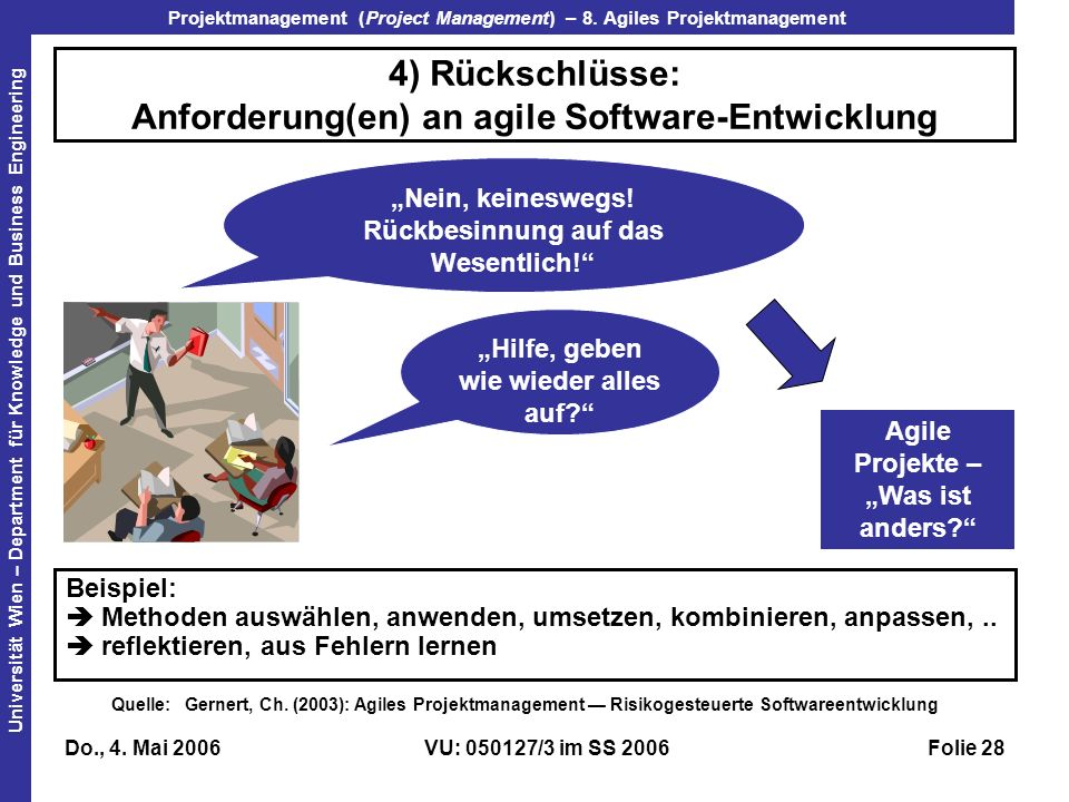Projektmanagement (Project Management) – 8.