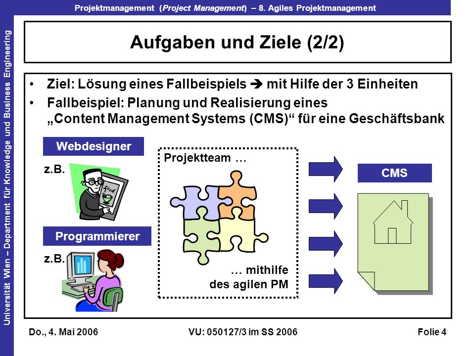 Projektmanagement (Project Management) – 8.