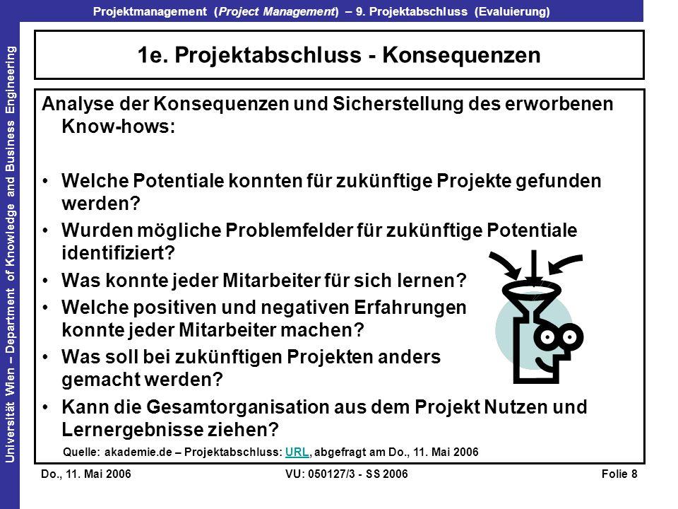 Projektmanagement (Project Management) – 9.