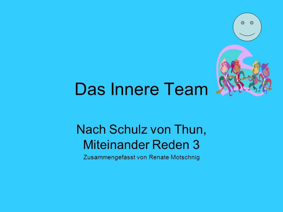 Das Innere Team Nach Schulz von Thun, Miteinander Reden 3 Zusammengefasst von Renate Motschnig