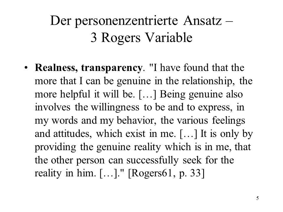6 Der personenzentrierte Ansatz – 3 Rogers Variable Acceptance, positive regard.