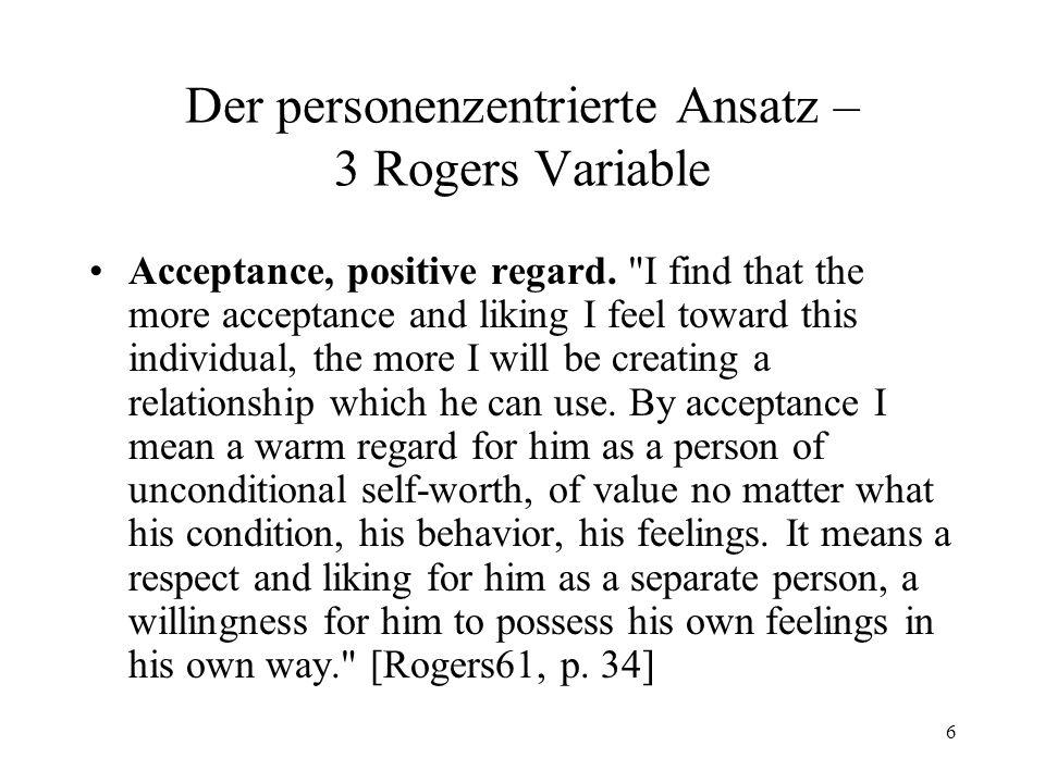 7 Der personenzentrierte Ansatz – 3 Rogers Variable Understanding, empathy.