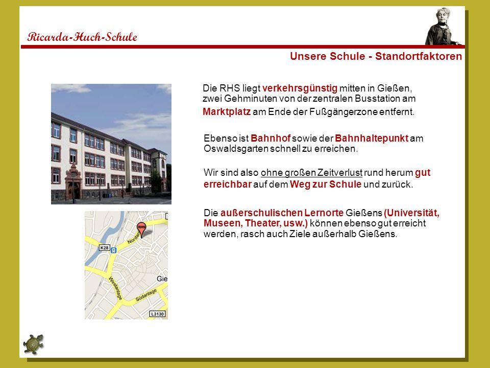 Ricarda-Huch-Schule Die Ricarda – Einige Bildimpressionen Es folgen Ein paar Impressionen aus unserer Schule