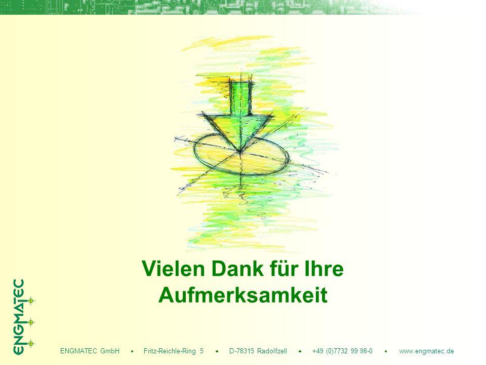 ENGMATEC GmbH Fritz-Reichle-Ring 5 D-78315 Radolfzell +49 (0)7732 99 98-0 www.engmatec.de Vielen Dank für Ihre Aufmerksamkeit