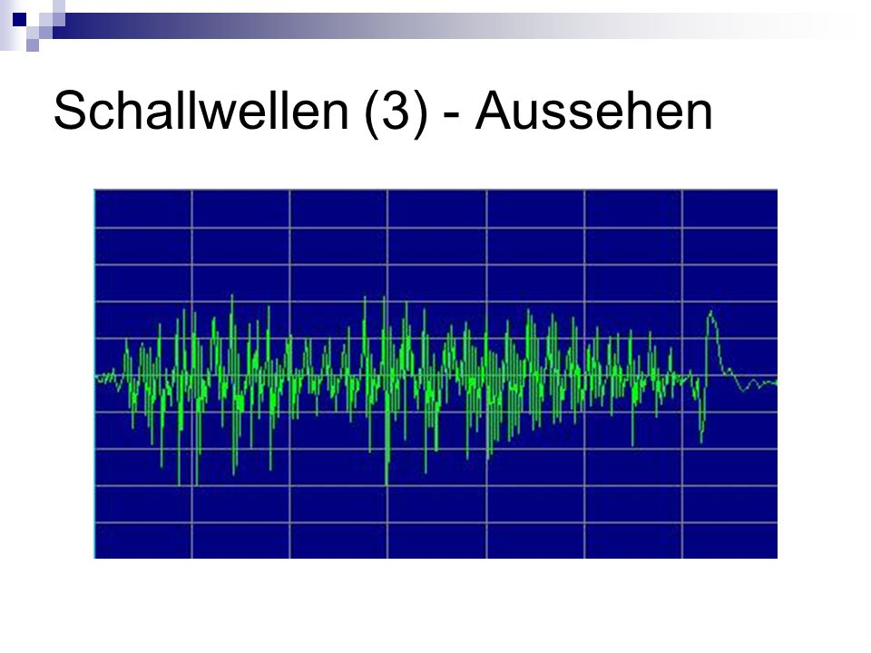 Schallwellen (3) - Aussehen