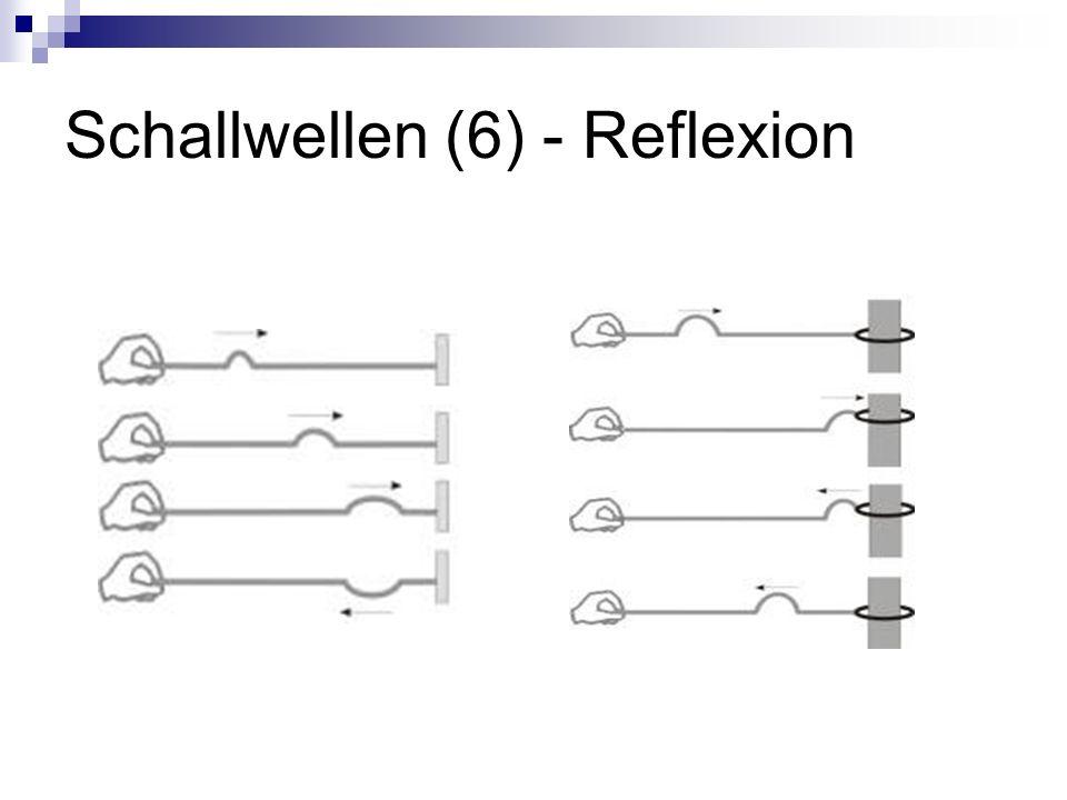 Schallwellen (6) - Reflexion